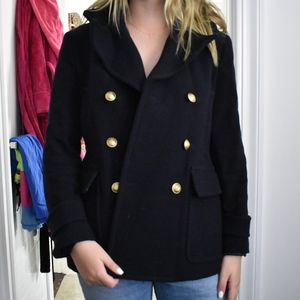 J Crew Double Breasted Wool Coat